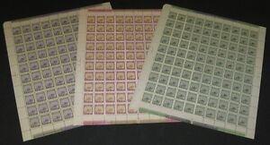 GREENLAND #10-18, Complete set of 9 in Full Sheets of 100, og, NH, VF Scott $55K