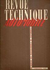 REVUE TECHNIQUE AUTOMOBILE 11 RTA 1947 CAMION FORD CANADA C 298 T 4X2