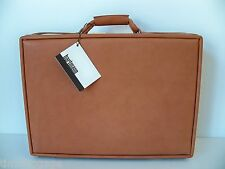 "Hartmann Belting Leather 5"" Deluxe Attache w/ Work Panel & Fan File MADE IN USA"