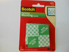 3M Scotch  # 111 Permanent Mounting Squares Holds upto 1 lb  *Big Sales*