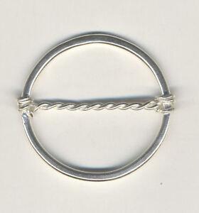 Sterling Silver Silk Scarf Ring
