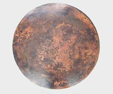 Mexican Round Copper Table Top Hand Hammered 48 Inches Stained Patina