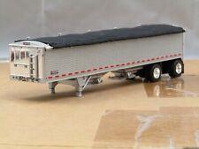 dcp custom Wilson silver/black spread axle hopper bottom trailer 1/64