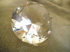 """80mm Crystal Diamond Paperweight Solid  3.15"""" W. Clear Handmade"""