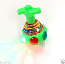 Multi-Color Spinning Green Tops Toy Spinner Gyro Light & Music Kids Children Toy