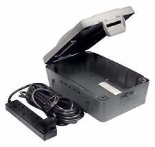Masterplug IP54 Weatherproof Outside Outdoor Electric Box & 4 Socket 10m Lead