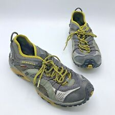 Merrell Continuum Women Gray Green Trail Running Shoe Approx Size 9 NO INSOLES