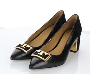 S5  $278 Women's Size 6 M Tory Burch Gigi Suede Logo Pointed Toe Pumps