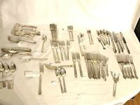 Antique Vintage Silverware Lot Of 76 Mostly Rogers, National Imperial, Vogue....