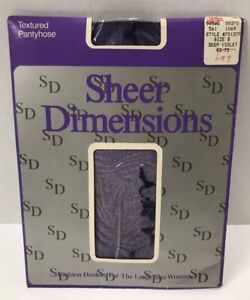 Vintage Sheer Dimensions Textured Pantyhose for the Large Size Woman B * New