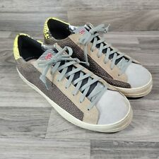 P448 You Can Surf Later suede & Snake Skin Fashion Sneaker Sz 42 US Size 11.5