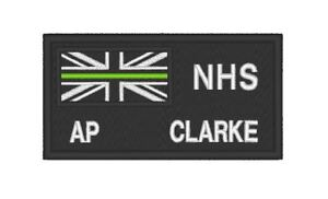 E0200  EMBROIDERED THIN GREEN LINE MEDIC PATCH WITH CUSTOM NUMBER / RANK / NAME