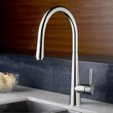 Chrome Kitchen Swivel&Pull Out Spout Sink Mixer Faucet Single Lever Brass Taps58