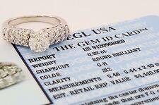 1 ct 14k White Gold Round Brilliant Cut Diamond Engagement Ring EGL Rtl $4,440