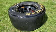 More details for goodyear nascar racing wheel for man cave table slick - retro classic old