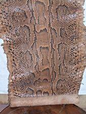 PELLE  PITONE AFRICANO ORIGINALE  DEL  WEST AFRICA   CM 385 ANNI 60  ORIGINALE