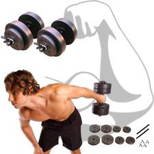 mancuernas gym gimnasio pesas de ejercicio 40 libras total, juego completo