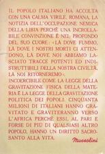 A3578) WW2, A. S. SCRITTO DI MUSSOLINI SULLA PERDITA DELLA LIBIA.