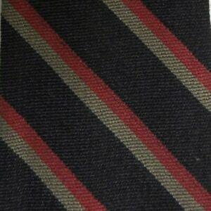 Skinny Blue Striped Reversible MILA SCHON Wool Tie