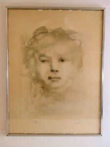 LITHOGRAPHIE signée LÉONOR FINI représentant un portrait