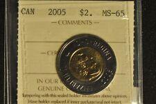 Canada 2005 Toonie 2 Dollar - ICCS - MS65 -
