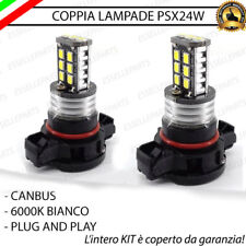 COPPIA LAMPADE PSX24W 15 LED CANBUS JEEP WRANGLER 6000K BIANCO GHIACCIO