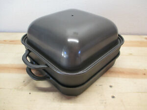 NEW Technique SMOKER BBQ Cast Iron Indoor - Outdoor Camping Grill Pan Portable