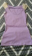 KOOKAI Purple Summer Top Cord Rope Short Sleeve Size 1 Cotton Fitted