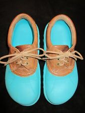 Crocs Tie-on Leather Uppers- Cool Color!- Gently Used Condition- Discontinued