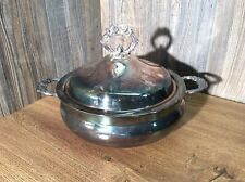 Vintage English Silver Co Covered Dish Leonard Silver, D1