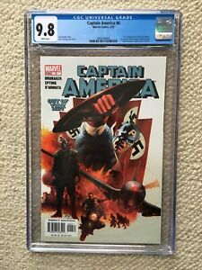 CAPTAIN AMERICA #6 (2005) CGC 9.8 1ST FULL WINTER SOLDIER LGY #555 HOT BOOK