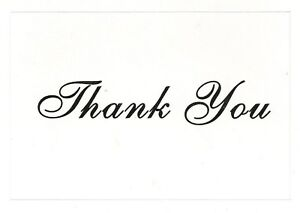 Victoria Lynn™ Thank You Cards - Black Imprint~BLANK~ON~THE~INSIDE~20 count