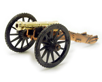 REVOLUTIONARY WAR CANNON 6 POUNDER GUN METAL TOY SOLDIERS DESK SIZE FREE SHIP