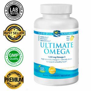 Nordic Naturals Ultimate Omega Lemon 1280mg Softgels - 360 Count Big Bottle