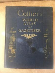Colliers World Atlas and Gazetter 1941 by P.F.Collier & Son Corp New York