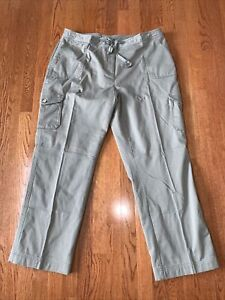 LL Bean High Rise Flannel Lined Favorite Fit Cargo Pants Size 20 NWOT