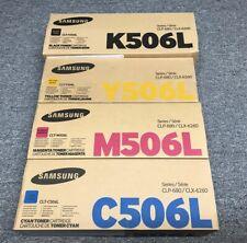 SET Genuine CLT-K506L CLT-M506L CLT-Y506L CLT-C506L Samsung CLP680 CLX6260