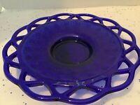 """Rare Vintage - Imperial Glass Cobalt Blue Candle Holder - 7 1/2""""."""