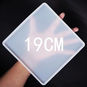 Square Rectangle Coaster Silicone Mold Resin Fluid Casting Art DIY Crafts Tool