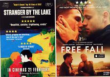 STRANGER BY THE LAKE - FREE FALL MOVIE FILM POSTCARDS X 2