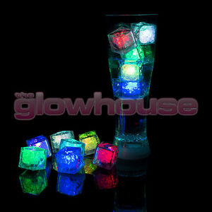 Flashing LED Ice Cubes Light Up Party Wedding Drink Rocks