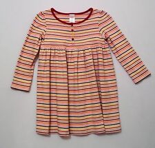 "Gymboree ""Purrfect Autumn"" Multi Colored Striped LS Cotton Knit Henley Dress, 5"