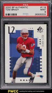 2000 SP Authentic Tom Brady ROOKIE RC /1250 #118 PSA 9 MINT