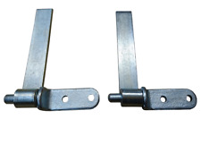 "2 x Trailer Straight Hinge & Gudgeon Pin Tailgate Set Truck Tipper 6"" Weld on"