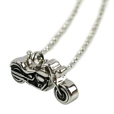 NEW Motorcycle Cremation Urn Necklace Biker Ashes Jewelry Memorial Keepsake
