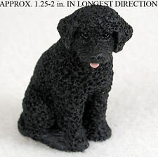 Portuguese Water Mini Resin Dog Figurine Statue Hand Painted