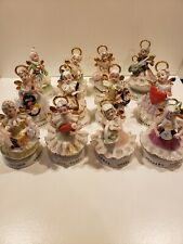 Vintage Napco angel of the month figurines Full Set *Rare find*