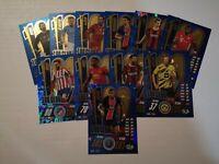 Match Attax 2020/21 Champions League- ALL 11 100 CLUB CARDS - Haaland/ Messi