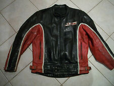 DIANESE BARRY SHEENE LEATHER JACKET(VINTAGE 1980) BLACK/RED/WHITE SIZE 50