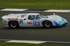 PHOTO  SILVERSTONE LEO VOYAZIDES' EX-CARLOS AVALLONE LOLA T70 MK3B AT SPEED THRO